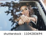 beautiful young arabic woman... | Shutterstock . vector #1104283694