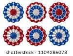 set of american bunting ... | Shutterstock .eps vector #1104286073