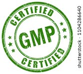gmp certified vector stamp... | Shutterstock .eps vector #1104286640