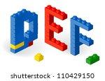 construction block vector abc....   Shutterstock .eps vector #110429150