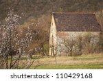 medieval catholic church on a hill - stock photo