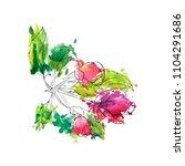 vector drawing apple tree...   Shutterstock .eps vector #1104291686