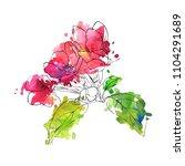 vector drawing apple tree...   Shutterstock .eps vector #1104291689