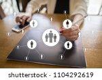 human resource management  hr ... | Shutterstock . vector #1104292619