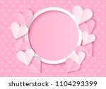 love card design  pink heart... | Shutterstock .eps vector #1104293399