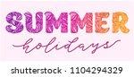 vector calligraphy lettering...   Shutterstock .eps vector #1104294329