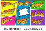 comic book sound effect... | Shutterstock .eps vector #1104300233