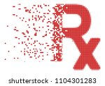 dispersed rx symbol dot vector... | Shutterstock .eps vector #1104301283