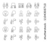 vector set of business people... | Shutterstock .eps vector #1104303713
