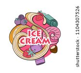 hand drawn ice cream.... | Shutterstock .eps vector #1104307526
