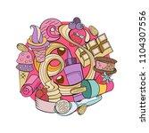 hand drawn ice cream.... | Shutterstock .eps vector #1104307556