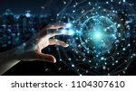 businesswoman on blurred... | Shutterstock . vector #1104307610