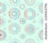 flowers seamless pattern | Shutterstock .eps vector #1104313796