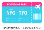 boarding pass vector icon... | Shutterstock .eps vector #1104315710