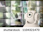 cctv security camera in...   Shutterstock . vector #1104321470