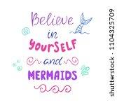 believe in yourself and... | Shutterstock .eps vector #1104325709