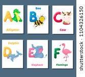 alphabet printable flashcards... | Shutterstock .eps vector #1104326150