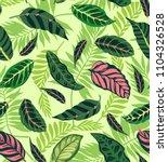 trendy seamless floral pattern... | Shutterstock .eps vector #1104326528