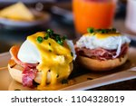 delicious breakfast with eggs... | Shutterstock . vector #1104328019