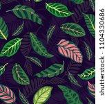 trendy seamless floral pattern... | Shutterstock .eps vector #1104330686