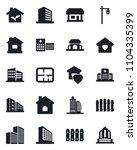 set of vector isolated black... | Shutterstock .eps vector #1104335399