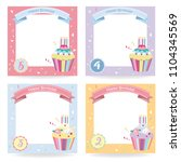 happy birthday card  cute... | Shutterstock .eps vector #1104345569