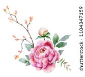 watercolor hand painting... | Shutterstock . vector #1104347159