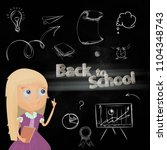 back to school composition with ... | Shutterstock .eps vector #1104348743