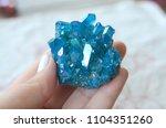 blue flame aura quartz cluster  ... | Shutterstock . vector #1104351260