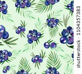 seamless pattern of watercolor... | Shutterstock . vector #1104357383