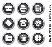 black office buttons | Shutterstock .eps vector #110436248