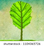 abstract green tree made of... | Shutterstock . vector #1104365726