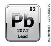 lead symbol.chemical element of ... | Shutterstock .eps vector #1104368390