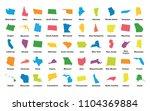 united states of america. 50... | Shutterstock .eps vector #1104369884