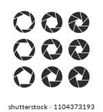 camera shutter icons set | Shutterstock .eps vector #1104373193