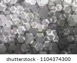 dark vector shining hexagonal... | Shutterstock .eps vector #1104374300