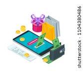 cashback money  online service... | Shutterstock .eps vector #1104380486