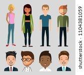 set of women and man character... | Shutterstock .eps vector #1104381059