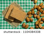 pacoca is a candy with peanuts... | Shutterstock . vector #1104384338