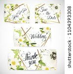 wedding floral template invite  ... | Shutterstock .eps vector #1104393308