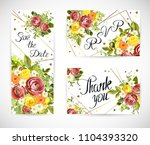 wedding floral template invite  ... | Shutterstock .eps vector #1104393320