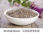 chia seed healthy superfood in... | Shutterstock . vector #1104393410