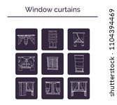 window curtains hand drawn... | Shutterstock .eps vector #1104394469