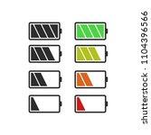batery icon  vector flat design | Shutterstock .eps vector #1104396566