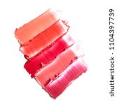 lipstick smears isolated on... | Shutterstock . vector #1104397739