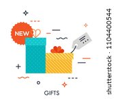 colorful gift packages with... | Shutterstock .eps vector #1104400544