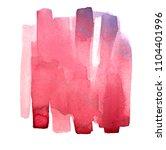 hand made watercolor brush... | Shutterstock . vector #1104401996