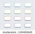 vector 3d box white text box...   Shutterstock .eps vector #1104403640