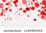 flying red rose petals on a... | Shutterstock .eps vector #1104404243