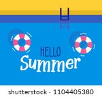 hello summer text with a... | Shutterstock .eps vector #1104405380